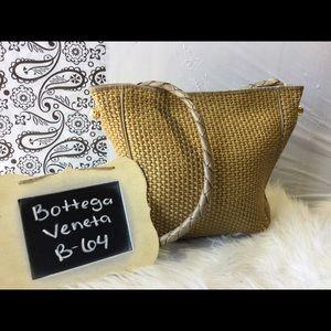 Bottega Veneta Woven Straw and Leather Bag Vintage